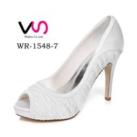 Wholesale High Platfrom - 10cm Heel Platfrom Elegance Delicate Style Wedding Shoe Evening Shoes High Heel Bridal Shoes Party Prom Women Shoes bridal shoes Party Shoes