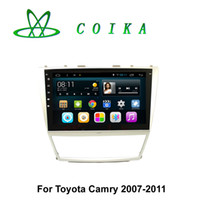 Wholesale Toyota Android Capacitive - 10.2 Capacitive Touch Android Car Head Unit Car DVD For Toyota Camry 2007 2008 2009 2010 2011 Radio RDS GPS Navigation Mirror Link Bluetooth