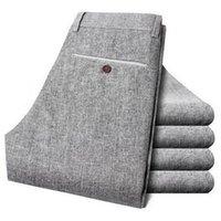 ingrosso tessuto di lino di qualità-6% di sconto pantaloni di qualità degli uomini di tela di trasporto libero pantaloni lunghi taglia 28-38 pantaloni da uomo autunno vestito estivo 149 58