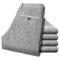 Wholesale Linen Fabric Trousers - 6% OFF Free shipping men linen fabric quality long pants size 28-38 summer autumn dress men's trousers 149 58