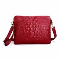 Wholesale Red Leather Crossbody Purse - Women Leather Shoulder Bag CrossBody Bag Handbag Messenger Purse