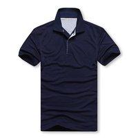 Wholesale Mens Cotton Lapel Shirts - Polos men's SHIRT MENS polos shirts simplicity Brand men lapel t-shirt 930 Men's T-shirt men short sleeve polo shirt