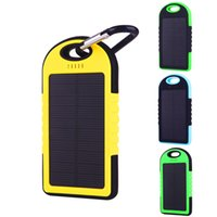Wholesale External Universal Charger For Cellphones - 2016 Wholesale Hot universal 5000mAh Port Solar Power Bank usb Charger External Backup Battery For iPhone6 iPad Samsung cellphones chargers