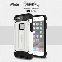 Wholesale Defender Iphone5 - Luxurious Hybrid Superior Hard PC Cover Armor And Pliable Rubber Drop Defender Case for iphone5 5s 6s 6s plus