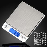 tragbare mini elektronische waage großhandel-Tragbare Digital-Schmucksache-Präzisions-Taschen-Skala-wiegende Skalen Mini-LCD-elektronische Balancen-Gewichts-Skalen 500g 0.01g 1000g 200g 3000g