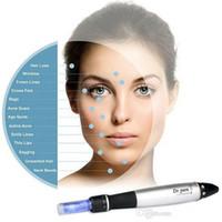 Wholesale Speed Vibrating - 6 Speed Derma Pen Electic Auto Micro Needle Therapy Dr.pen vibrating Dermapen Dermastamp 12 Needles Pen