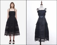 Wholesale Suspenders High End - European and American high-end custom Self portrait 2016 spring and summer suspenders sexy Crochet embroidery hollow out lace dress