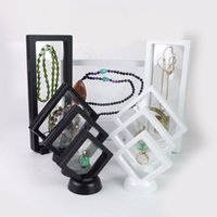 Wholesale Necklace Presentation - PET Membrane Jewelry Stand Bracelet Display Clear Pendant Necklace Holder Jewellery Floating Presentation Case