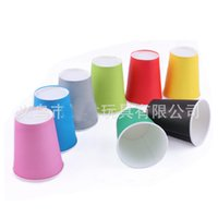 Wholesale Disposable paper cup thickening Color paper cups Solid cup Holiday Party Wedding cup ml oz