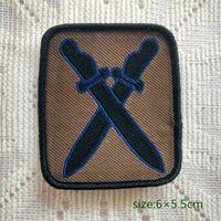 remendos do exército do vintage venda por atacado-Exército do vintage 10 Divisão de Infantaria Cruzou Espadas Costurar Em Patch Shirt Calças Colete Casaco Saia Saco Crianças Presente Decoração Do Bebê