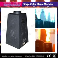 Wholesale Fire Projector - Wholesale- 4 jet Color flame projector DMX512 hexagon Stage DJ Disco performance show Special Effect spray color fire machine for superstar