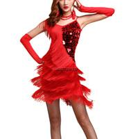 винтажные вдохновленные коктейльные платья оптовых-20 Великий Гэтсби хлопушка вдохновил партии наряд старинные танцевальное платье 1920-х годов дамы стиль коктейль танцевальные платья одежда костюм