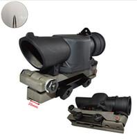 Wholesale Types Rifle Scopes - Free Shipping L85 SUSAT Type Tactical 4X Sight Rifle Shotgun Scope w  Quick Detach Weaver Mount