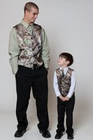 Wholesale Wedding Party Suit Vest - 2016 Fashionable Camo Vest Realtree Mens Wedding Party Suits Bridal V Neck formal wear waistcoat groomsmen Outerwear