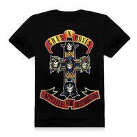 Wholesale Hip Hop Led T Shirt - Wholesale-Cotton Guns N Roses Led Zeppelin The Beatles T Shirt Men 3D Black Short Sleeve Hip Hop Tshirt Homme Print Streetwear Tee Shirts