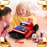 Wholesale Supermarket Cash Register Toy - Christmas Gift Cash Register Baby Pretend Play Toys Supermarket Children POS Machine Game Kids Learning Education Model Present