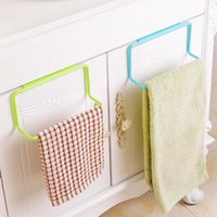 Wholesale Bathroom Towel Shelves - New Hot Sale Over Door Tea Towel Rack Bar Hanging Holder Rail Organizer Bathroom Kitchen Cabinet Cupboard Hanger Shelf #226217