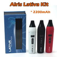 Wholesale Battery Li Polymer - Authentic Airistech Lativa Dry Herb Vaporizer Kit OLED Digital Display Full Ceramic Heating Chamber With 2200mAh Li-polymer Battery E Cigs