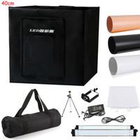 "Wholesale Light Cubes Photography - 40cm 16""Photo Studio Photography 80LED Light Tent Backdrop Kit Cube Lighting Box"