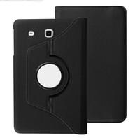 samsung tab4 cover achat en gros de-Etui en cuir avec couvercle pivotant sur 360 ° pour Samsung Galaxy Tab E 9.6 T560 / T561 SM-T560 Tab4 10.1 T530 / T531 T350