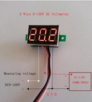 "Wholesale Dc Volt Digital Panel Meter - LED Displays DC 3-30V 0.36"" 3 Wires LED Digital Panel Volt Meter Voltage Voltmeter Car Motor-RED"