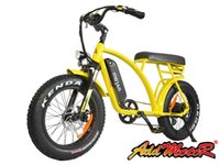 Wholesale Bike E Seat - Addmotor MOTAN M60 Electric Bicycle Yellow 20Inch Fat Tire 500W 48V 10.6AH E-Bike Lithium Battery Gear Fork Suspension Wide Seat New Design