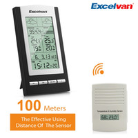 Wholesale Temperature Controller Wireless - Excelvan Wireless Weather Station For Germany Temperature, Dew Point, Barometer and Humidity LCD Display <$18 no tracking