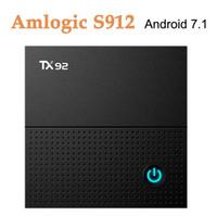 полоса частот оптовых-TX92 4K ТВ коробка коробка Amlogic S912 восьмиядерный процессор Android 4.1 операционной системы 7.1 Вт 1000м сети 2.4 Г 5 г двухдиапазонный WiFi 3 ГБ оперативной памяти 32 ГБ ROM