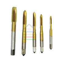 Wholesale Wholesaler Slot Machines - 5pcs HSS Point Tap Straight Flute Metric Hand Machine Tap Tin Coated M3 To M8 Machine Screw Taps 3mm 4mm 5mm 6mm 8mm Tap order<$18no track
