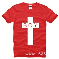 Wholesale Tee Shirt Boy London - WISHCART Tide brand BOY LONDON cross bigbang Mens Men T Shirt Tshirt Fashion 2016 New Short Sleeve Cotton T-shirt Tee Camisetas Hombre