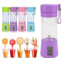 Wholesale Vegetable Juice Machine - new USB Electric Fruit Juicer Bottles mini 380ML Portable Handheld Smoothie Maker Blender Bottle Juice Cup Juicer Blender