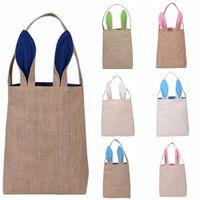 niedliche ostern geschenke großhandel-Nette Baumwolle und Leinen Easter Bunny Ears Basket Bag für Ostern Geschenkverpackung Ostern Handtasche für Kind Fine Festival Geschenk
