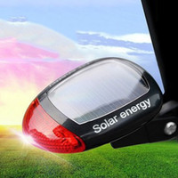 Wholesale Solar Power Tail Light - Sport MTB Cycling Tail Rear Red Light Solar Power Bike Bicycle LED Lamp Seatpost Taillight with Clamp Fashion 2505040