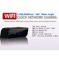 Wholesale Network Web Cams - Wifi IP Camera 720P HD Clock Spy Hidden Camera IR Security Camera Network Web Cam DVR Home Security Surveillance Camcorders Video Recorder