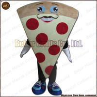 ordenando mascote venda por atacado-Pizza traje da mascote frete grátis, alta qualidade barato pelúcia Pizza mascote adulto dos desenhos animados, aceitar a ordem do OEM.