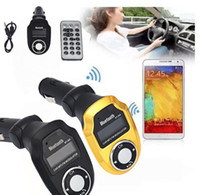 Wholesale Mp4 Free Handsfree - BT-303 Multifunctional Bluetooth V2.1 Handsfree Car Kit MP3 Player FM Transmitter A2DP Car Mp3 Free Shipping