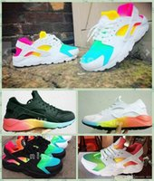 Wholesale Womens Size 12 Flat Shoes - 2017 Air Cushion Huarache Running Shoes Huraches Colourful Shoes Trainers Men And Womens Huaraches Sneakers Hurache Rainbow Size 5.5-12