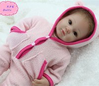 Wholesale Silicon Baby Dolls - Latest 18inch NPK Real Silicon Baby Dolls For Children New Style Alive Handmade Simulation Sweet Real Doll Baby As Best Gifts