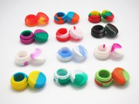 Wholesale Ecig Accessories - Stock in USA! 1000pcs lot -factory price 3ML New ecig accessories silicone jars dab wax container 26mmX17mm