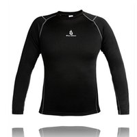 Wholesale Compressed Women T Shirts - WOSAWE Men and Women Outdoor Sports Thermal Underwear Top Winter Warm Long Fleece Undershirts T- shirts Cyling Clothings