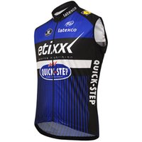 chalecos de ciclismo azul al por mayor-WINDSTOPPER WINDPROOF 2016 ETIXX QUICK STEP PRO TEAM BLUE SOLO CHALECO SIN MANGAS CYCLING JERSEY CYCLING DESGASTE TAMAÑO: XS-4XL