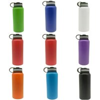 Wholesale Cool Mouth - Multi-Color 32OZ 40OZ Insulated Stainless Steel Water Bottle Wide Mouth Tumbler Rambler Travel Mug Coffee Cooler