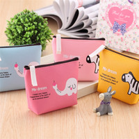 Wholesale elephant patterns online - Elephant Pattern Wallet Portable Cartoon Zipper Purse Coin Storage Bag Student Gifts For Multi Color lc C R