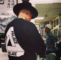 Wholesale Good Quality Black T Shirts - 2016 New Men's Reflective Palace Skateboards T Shirt Good Quality Cotton Hip Hop Palace T-Shirts Men Palace Tee