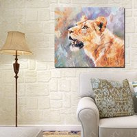 Wholesale Wall Art Sets Cheap - Cheap Modern Canvas Art Tiger Oil Painting Abstract Wall Pictures Living Room Wall Decor Single Set