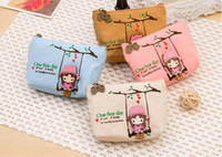 Wholesale Wholesale Linen Canvas Pillow Covers - Wholesale For Coin Purse Meng was soup swing girl canvas purse wallet scattered creative admission package customized hand bag Best gift