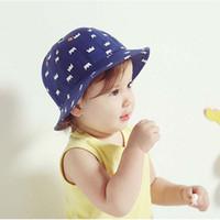 Wholesale Wholesale Visor Beanies - Baby Hat Children Caps Infant Boys Girls Crown Bucket Hat Kids Cap 2016 Spring Autumn Sun Hat Fashion Beanie Hat Caps Kids Hats Ciao C24783