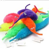 Wholesale twisty worm toy - Magic tricks Twisty Worm for Magicians Baralho Mr.fuzzy Magica Wiggle Magic Worm Twisty Plush Wiggle Stuffed Animals toys