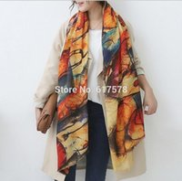 Wholesale Cashmere Scarves Match - 2016 Autumn and winter new style Graffiti imitation cashmere scarf fashion women soft printing all-match shawl HJIA603