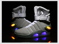 Wholesale mag sneakers - Supply Fashion Air Mag Top Quality Basketball Shoes Air Mag Sports Running Sneaker Black Grey Color Man Size39-46 DHL Free Shipping